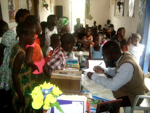 CBC REGISTRATION OF CHILDREN. THEY CAME IN THEIR NUMBERS. PRAISE THE LORD